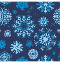 Indigo Snowflake Pattern vector image