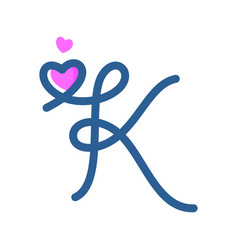 Initial k mono-line love vector