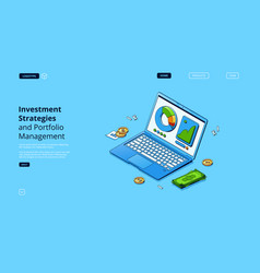 investment strategies and portfolio management vector image