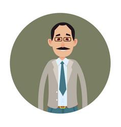 joyed businessman or clerk flat icon vector image