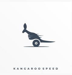 Kangaroo speed template vector