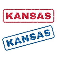 Kansas Rubber Stamps vector image