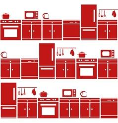 Kitchen equipment seamless pattern vector