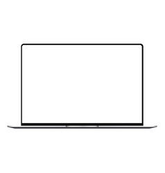 laptop with white screen mock up vector image