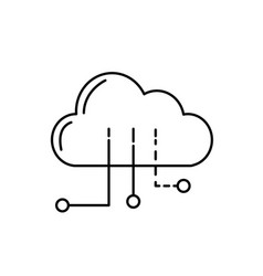 Line cloud data with circuits to digital vector
