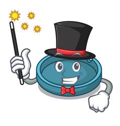 Magician ashtray mascot cartoon style vector
