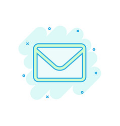 mail envelope icon in comic style receive email vector image