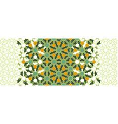 Morocco green osaic wallpaperrepeating vector