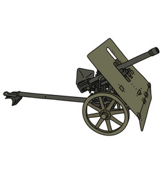 Old khaki light cannon vector
