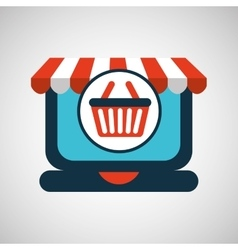 Online shopping concept basket buy icon vector