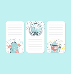 organizer paper for notes printable pages vector image