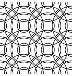 Outline of interlocking circles seamlessly vector