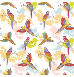 Parrot seamless grunge big vector image
