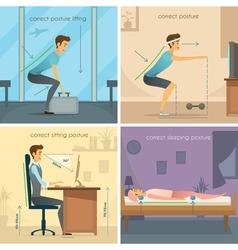 Posture 2x2 Design Concept vector
