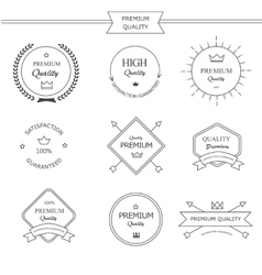 Premium quality line labels set vector image