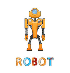 robot new technology poster vector image