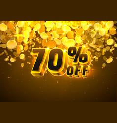 Sale 70 off banner promotion discount flyer big vector