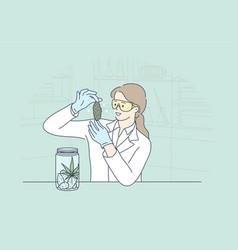 Science experiment drug medicine analysis vector