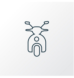 scooter icon line symbol premium quality isolated vector image