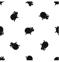 sheep pattern seamless black vector image