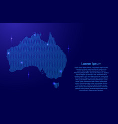 silhouette of australia country from wavy blue vector image