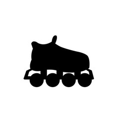 Silhouette roller skate sport equipment vector