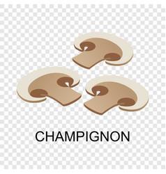 sliced champignon icon isometric style vector image