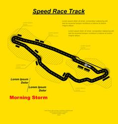 Sportcar speed circuit vector