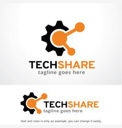 Tech share logo template vector
