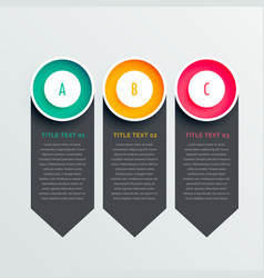 Three options dark vertical banners vector