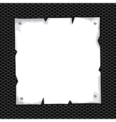 Torn sheet in blank over black texture background vector