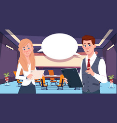 Two business person chat communication vector