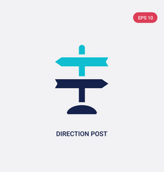 Two color direction post icon from airport vector