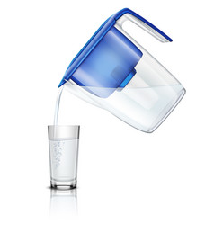 Water filter realistic composition vector