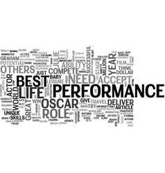 who should win the oscar text word cloud concept vector image