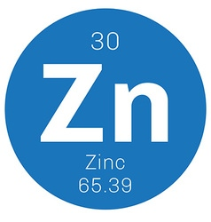 Zinc chemical element vector image