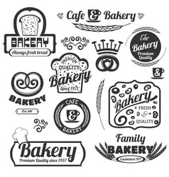 Bakery Labels Set vector image vector image
