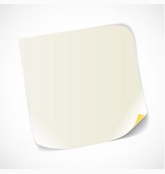 Blank white paper sheet vector image