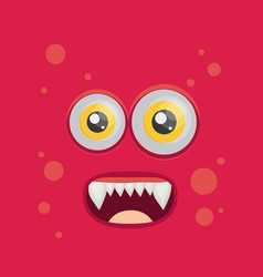 Cartoon monster in flat style happy halloween vector