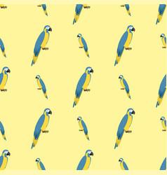 cartoon tropical parrot wild animal bird seamless vector image vector image