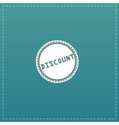 Discount Icon Badge Label or Sticker vector image vector image