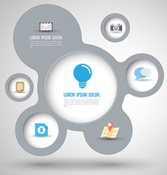 Modern Simply infographic template vector image