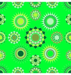 seamless of green abstract forms vector image vector image