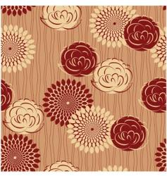 vintage flower seamless vector image vector image