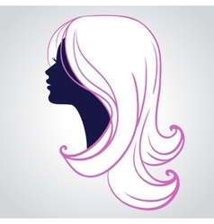 Woman face silhouette isolated vector image vector image