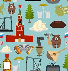 Russia sightseeing seamless pattern Moscow Kremlin vector image
