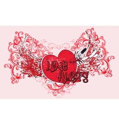 vintage valentine t-shirt design vector image vector image