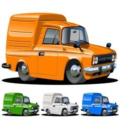 cartoon delivery van one click repaint vector image vector image