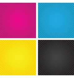 cmyk spiral boxes vector image vector image