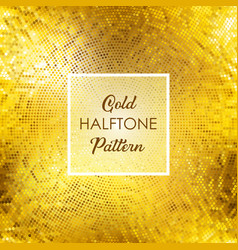 gold halftone pattern background vector image vector image
